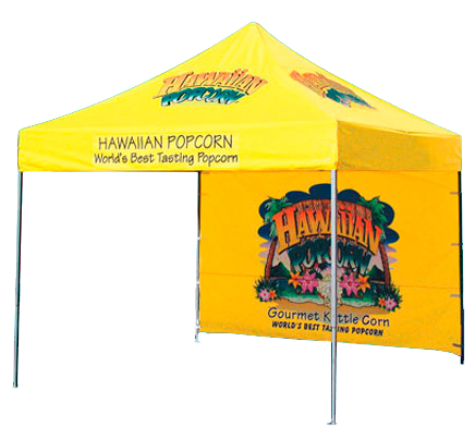 Outdoor display banner stand for trade show