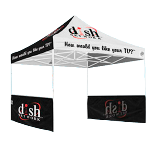 Outdoor canopy tent for trade shows and events