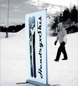 All-Weather Double Sided Banner Stand