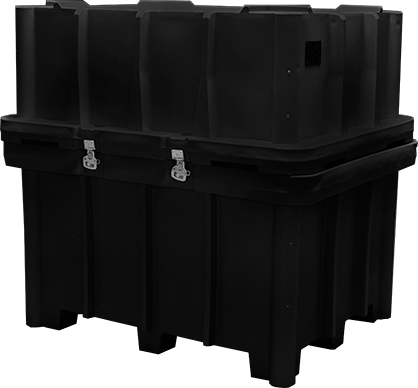 Large exhibit crate for trade shows