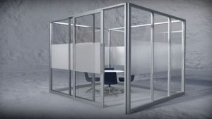 Conference Room - Extruded aluminum with inset panels