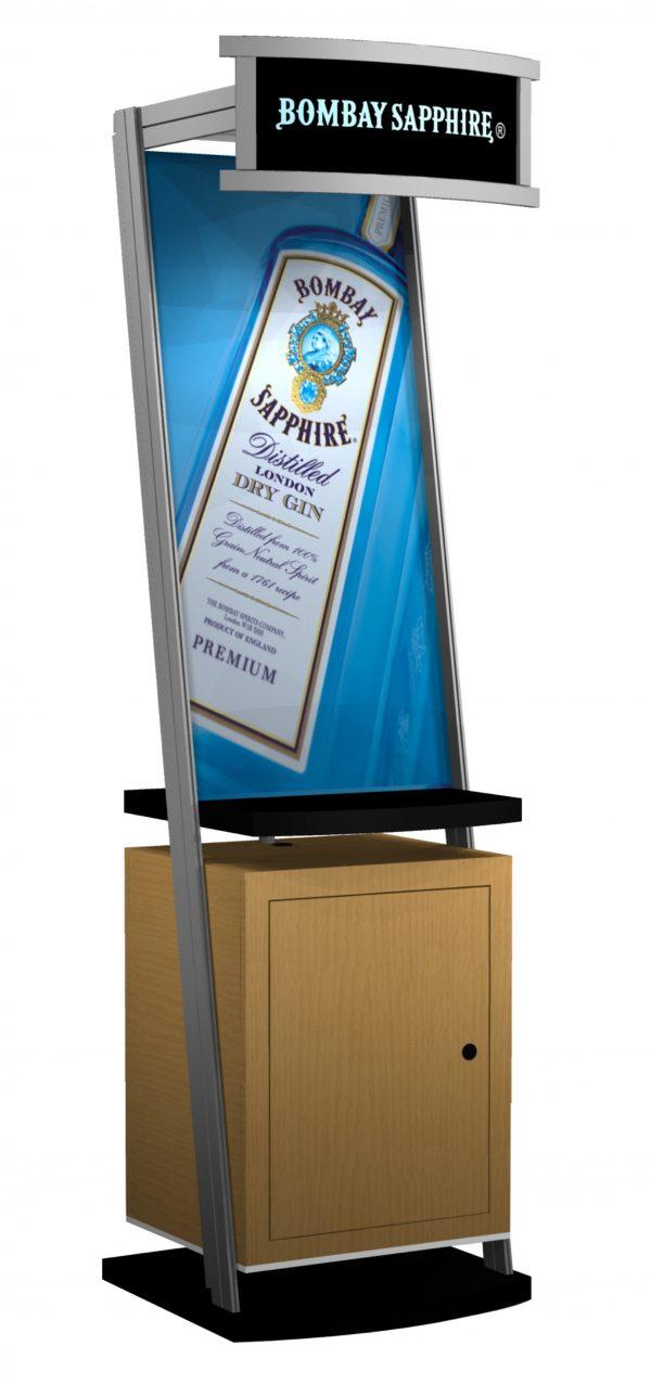 Backlit header kiosk