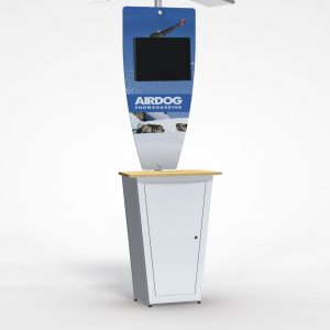 Trade show monitor stand kiosk