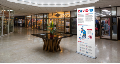 COVID-19 Awareness Banner Stands