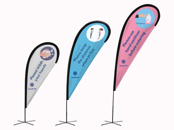 COVID-19 Awareness Outdoor Banners & Flags